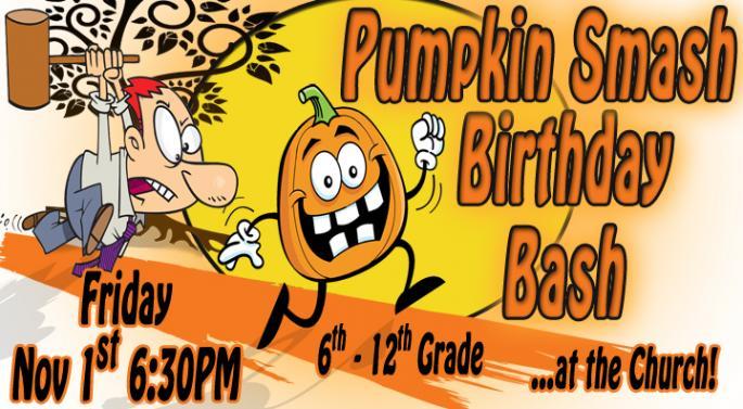 Youth Pumpkin Smash event